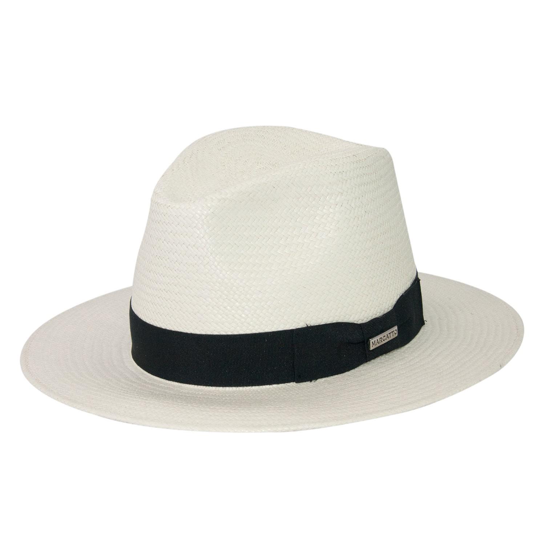 Chapéu de Palha Panamá Marcatto Casual Fita Preta