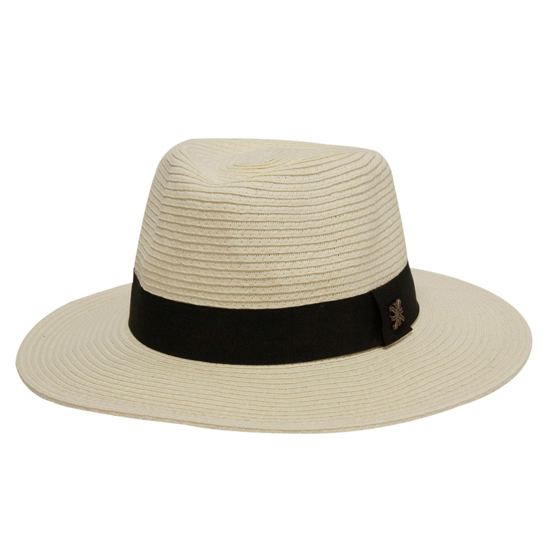 Chapéu Feminino Mikonos Marfim - Proteção Solar UV