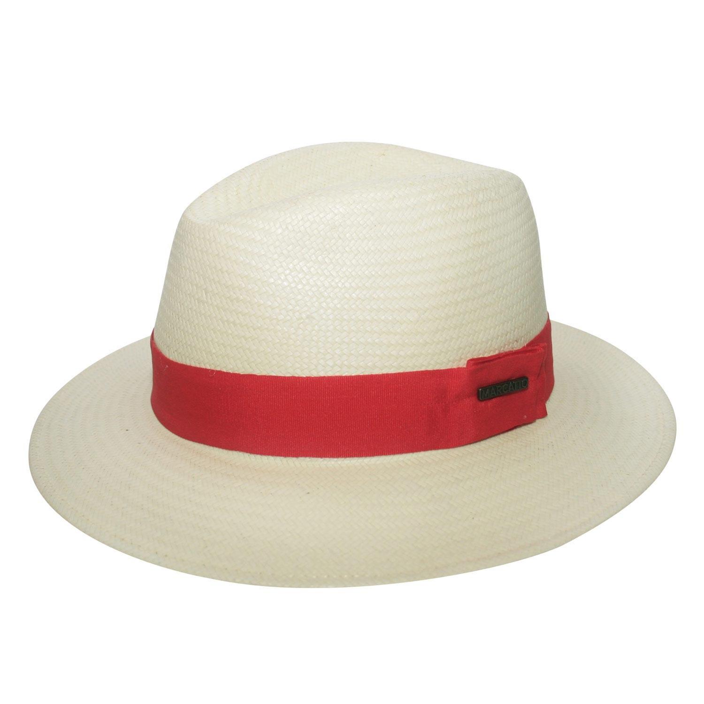 Chapéu Marcatto Casual Shantung Fita Vermelha