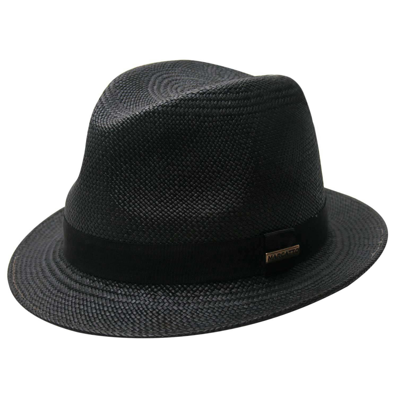 Chapéu Panamá Aba Curta Preto