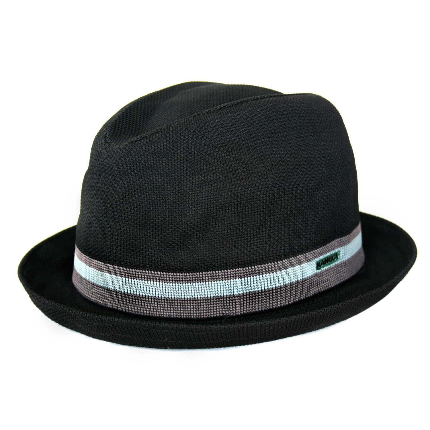 Chapéu Pork Pie Kangol Stripe Player Preto