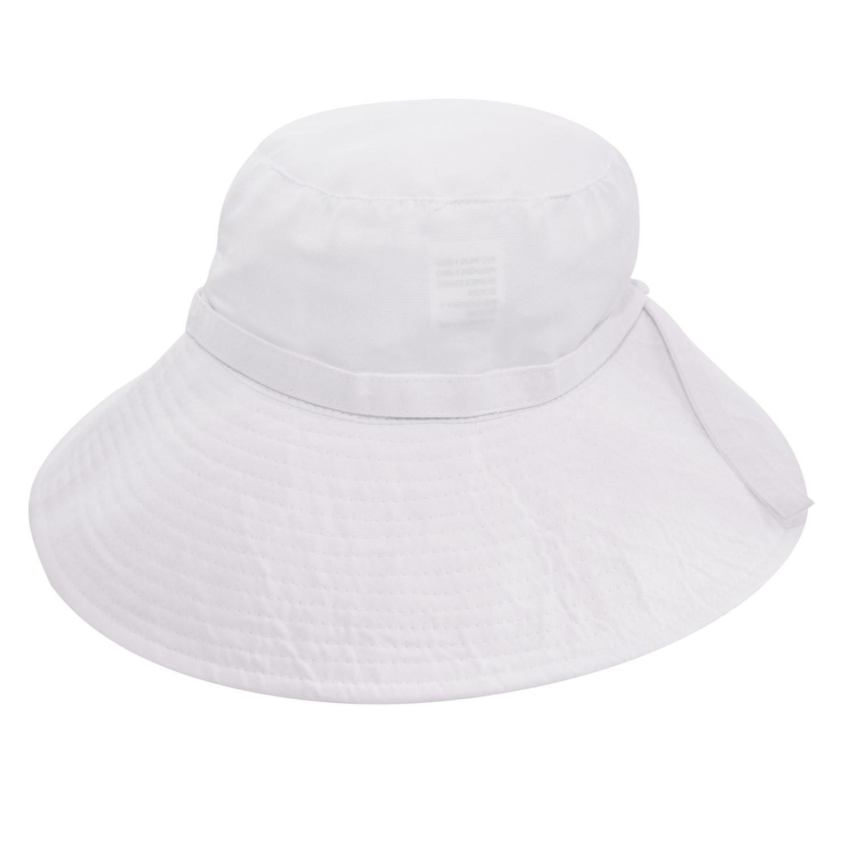 Chapéu Manly Iris Branco - Proteção Solar UV