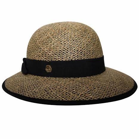 Chapéu Palha Fernanda Preto - Proteção Solar  UV