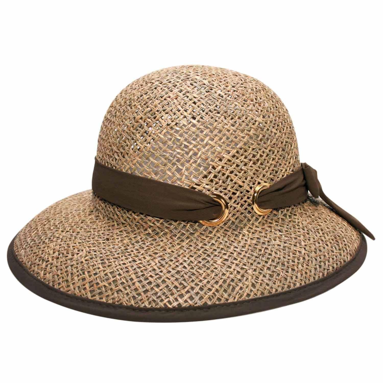 Chapéu Palha Fernanda Marrom - Proteção Solar UV