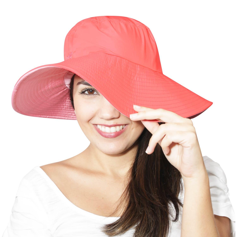 Chapéu Lyon Coral/Rosa - Proteção Solar UV