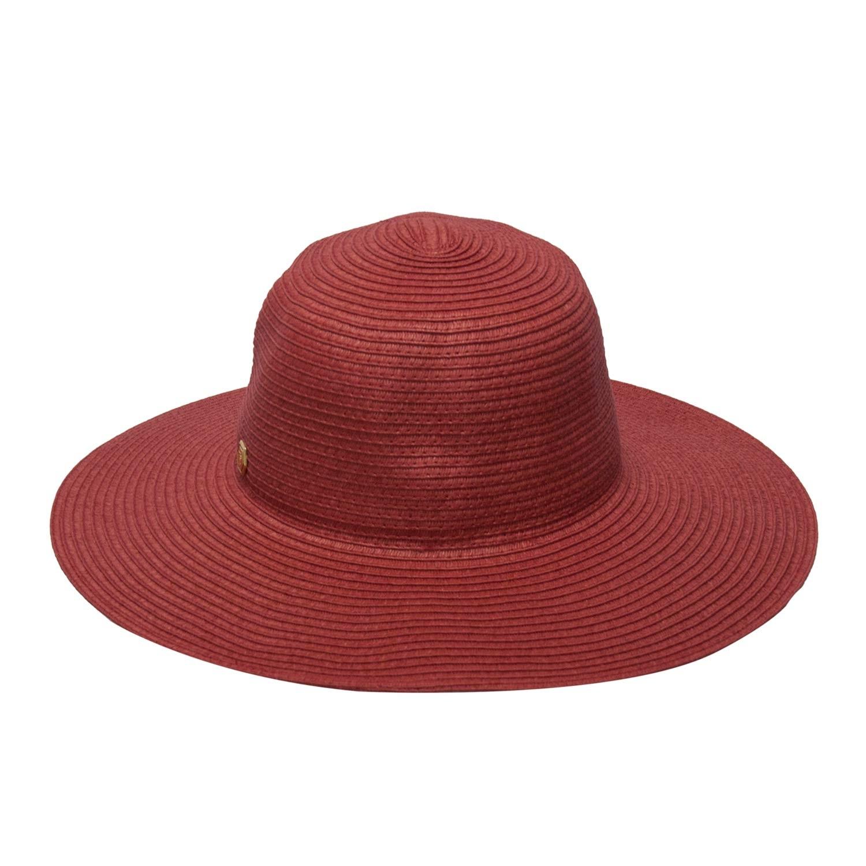 Chapéu Praia Feminino Floppy Vermelho Verão bf6db366e65