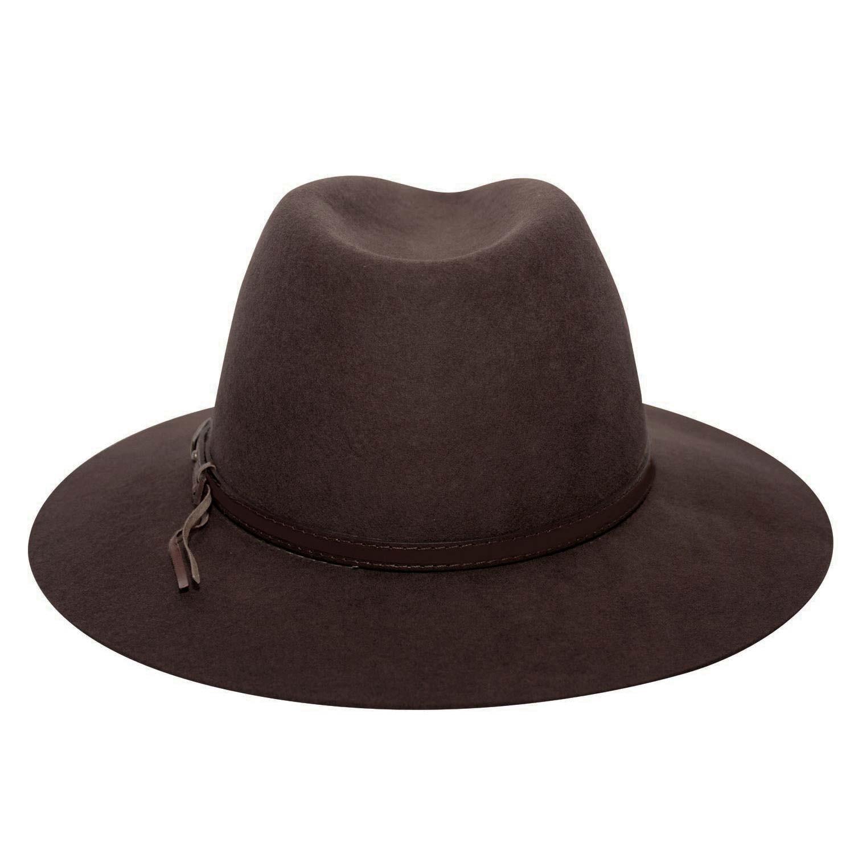 Chapéu Marrom Feltro Tira de Couro Marcatto Outback 1016a1bbb86