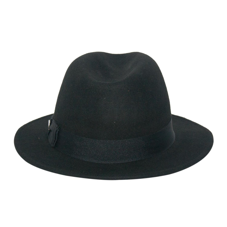 Chapéu de Feltro Preto Aba Média Marcatto ced079977cb