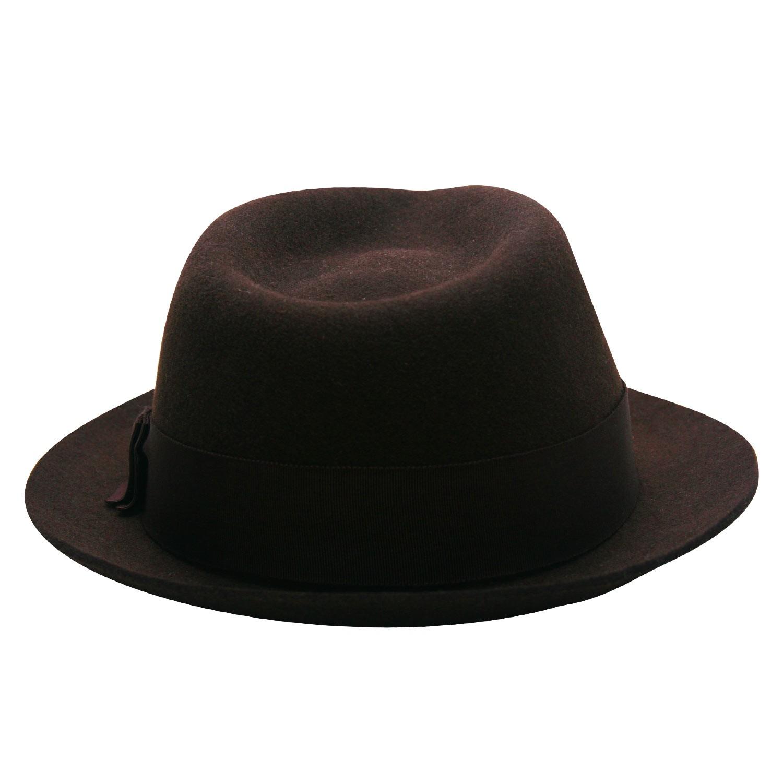 Chapéu Fedora Johnny Marrom d5c3abc598a