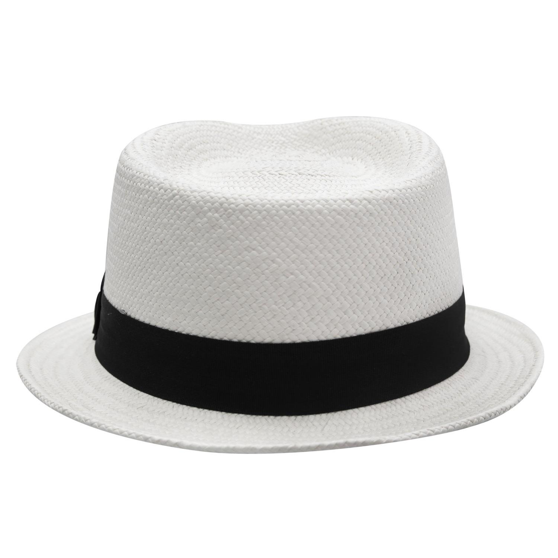 7160b9080c016 Chapéu Fedora Marcatto de Palha Panamá Dean Marfim - Aba Curta