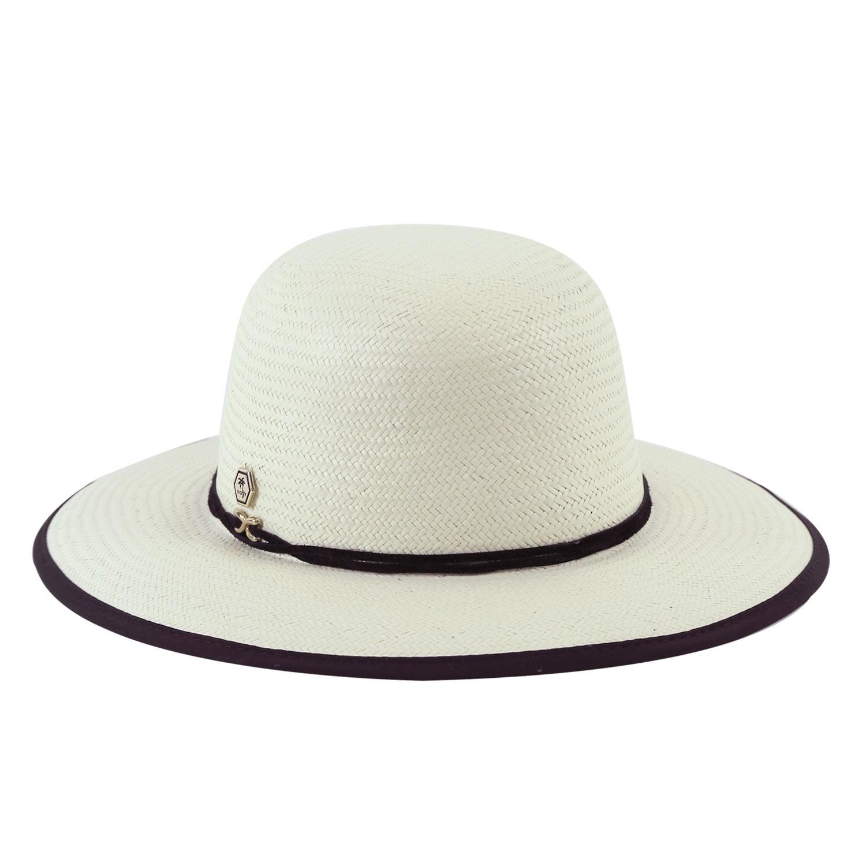 Chapéu de Praia Feminino Proteção UV Marfim