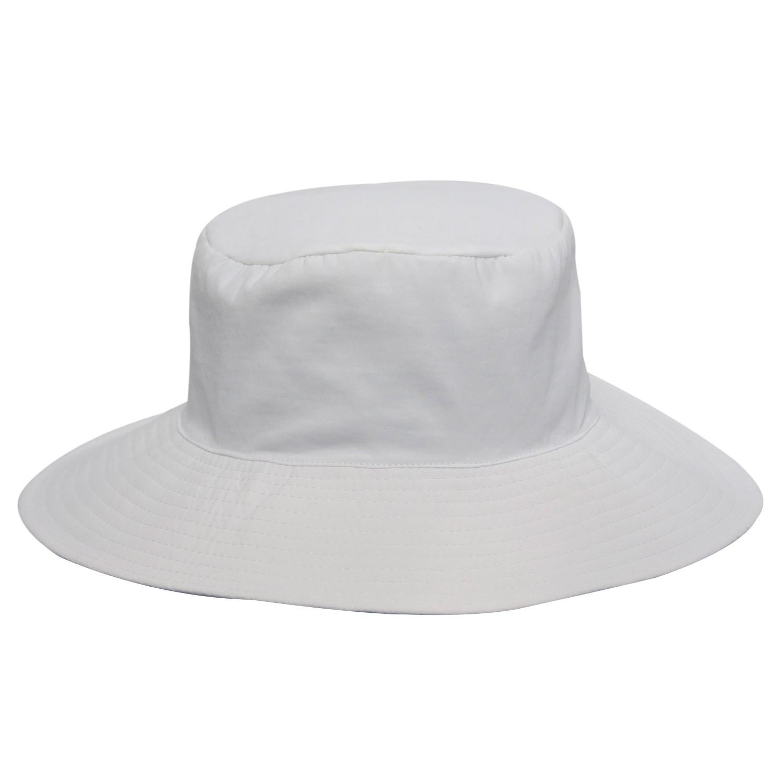 Chapéu Praia Tecido Califórnia Branco - Proteção Solar UV