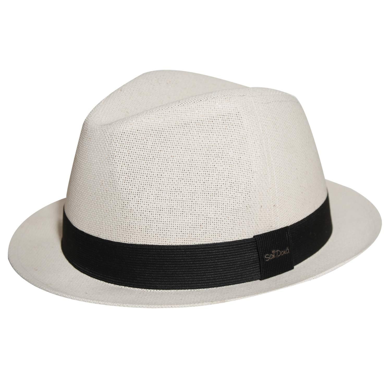 Chapéu Fedora Salvador Canhamo Marfim