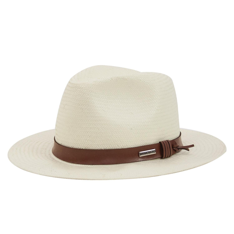 Chapéu Marcatto Fita de Couro Marfim