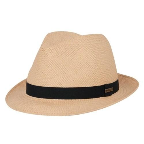 Chapéu Panamá Aba Curta Bege