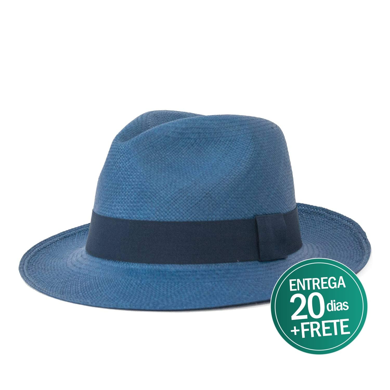 7a5c89ac9f0af Chapéu Panamá Azul Original Toquilla Equador