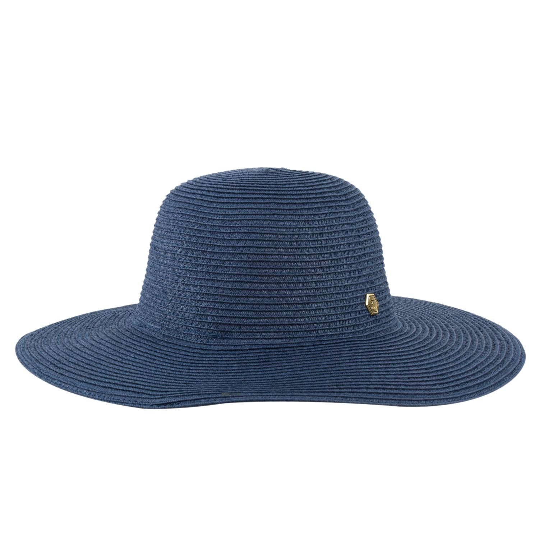 Chapéu Praia Feminino Floppy Azul Marinho Verão