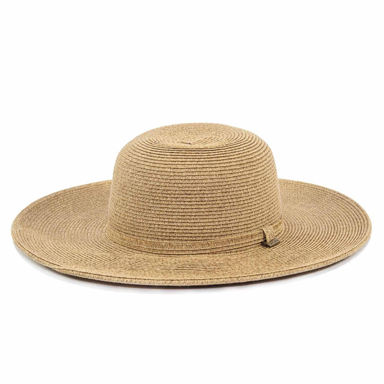 Chapéu Praia Feminino UVLine Floppy Bege Verão - Proteção Solar UV