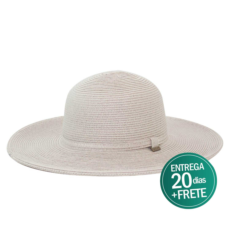 Chapéu Praia Feminino UVLine Floppy Marfim Verão - Proteção Solar UV