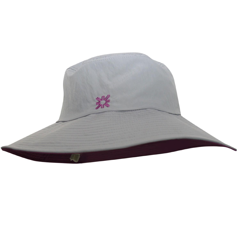 Chapéu Lyon Cinza/Roxo - Proteção Solar UV