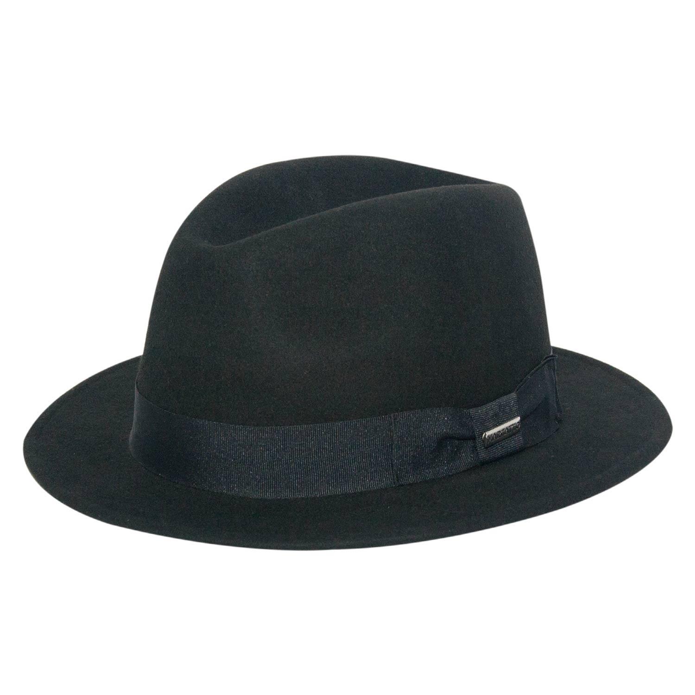 Chapéu de Feltro Preto Aba Média Marcatto ca6785a8df5