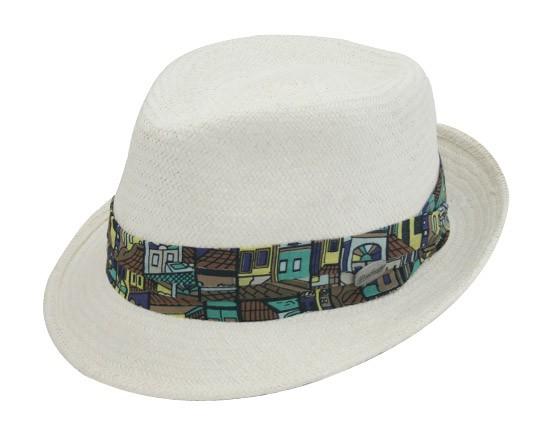 Chapéu Fedora Lucca Marfim