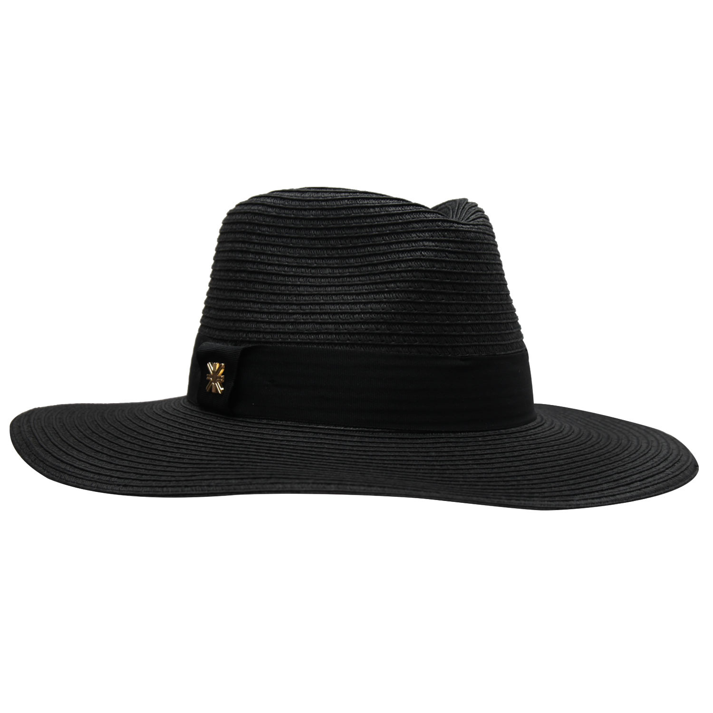 Chapéu Feminino Mikonos Preto - Proteção Solar UV