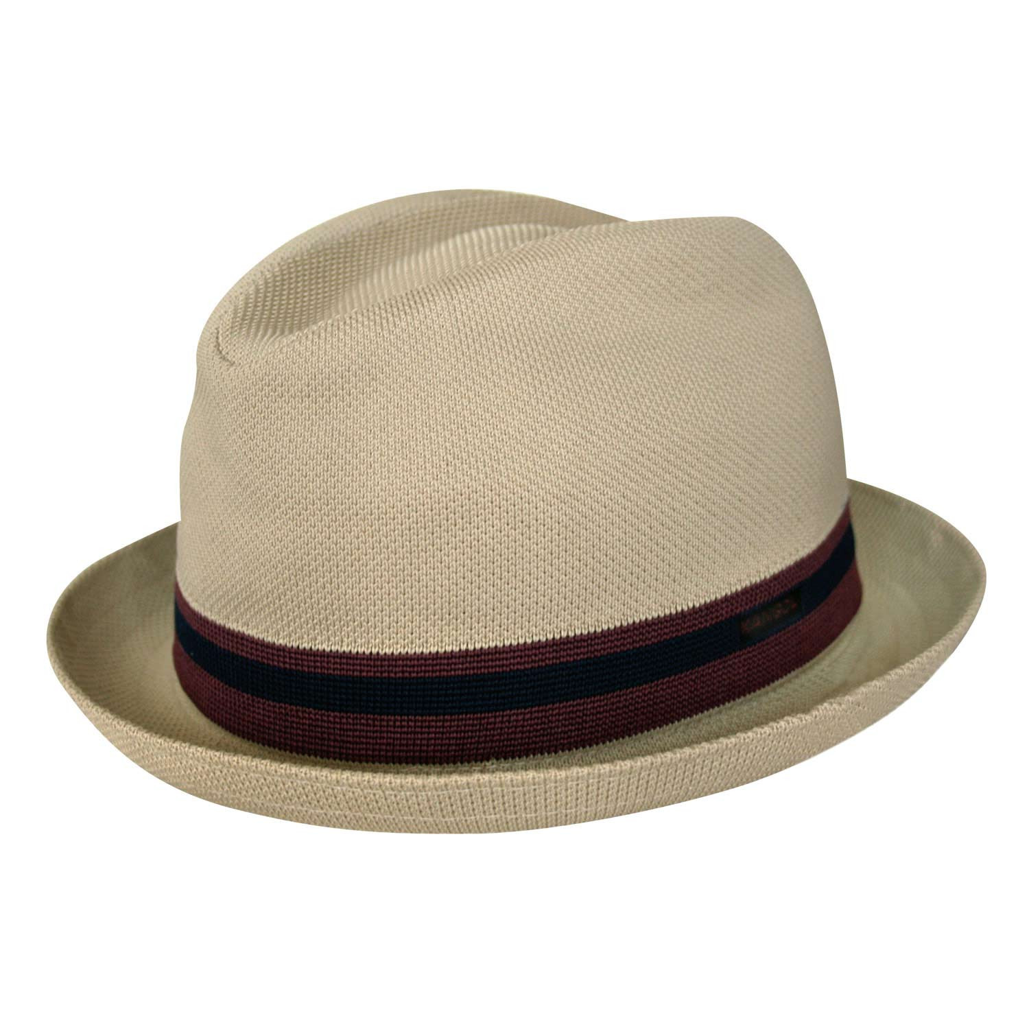 Chapéu Pork Pie Kangol Stripe Player Bege