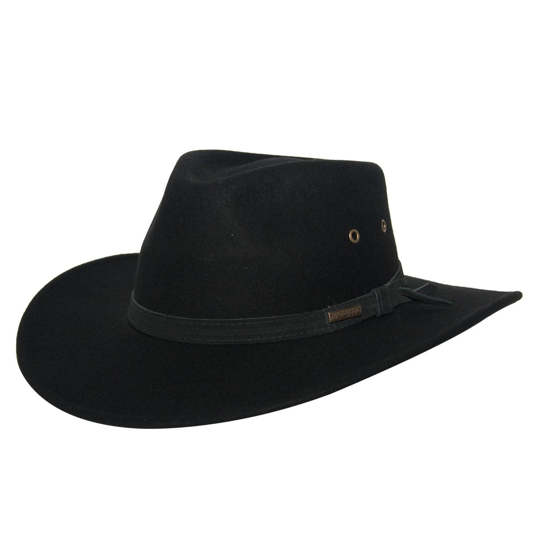 Chapéu Masculino Feltro Django Preto