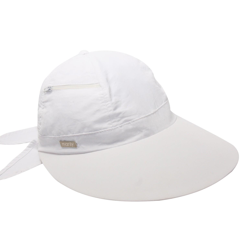 Viseira Manly Malu Branca- Proteção Solar UV