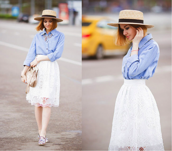 Mulher usando chapéu palheta