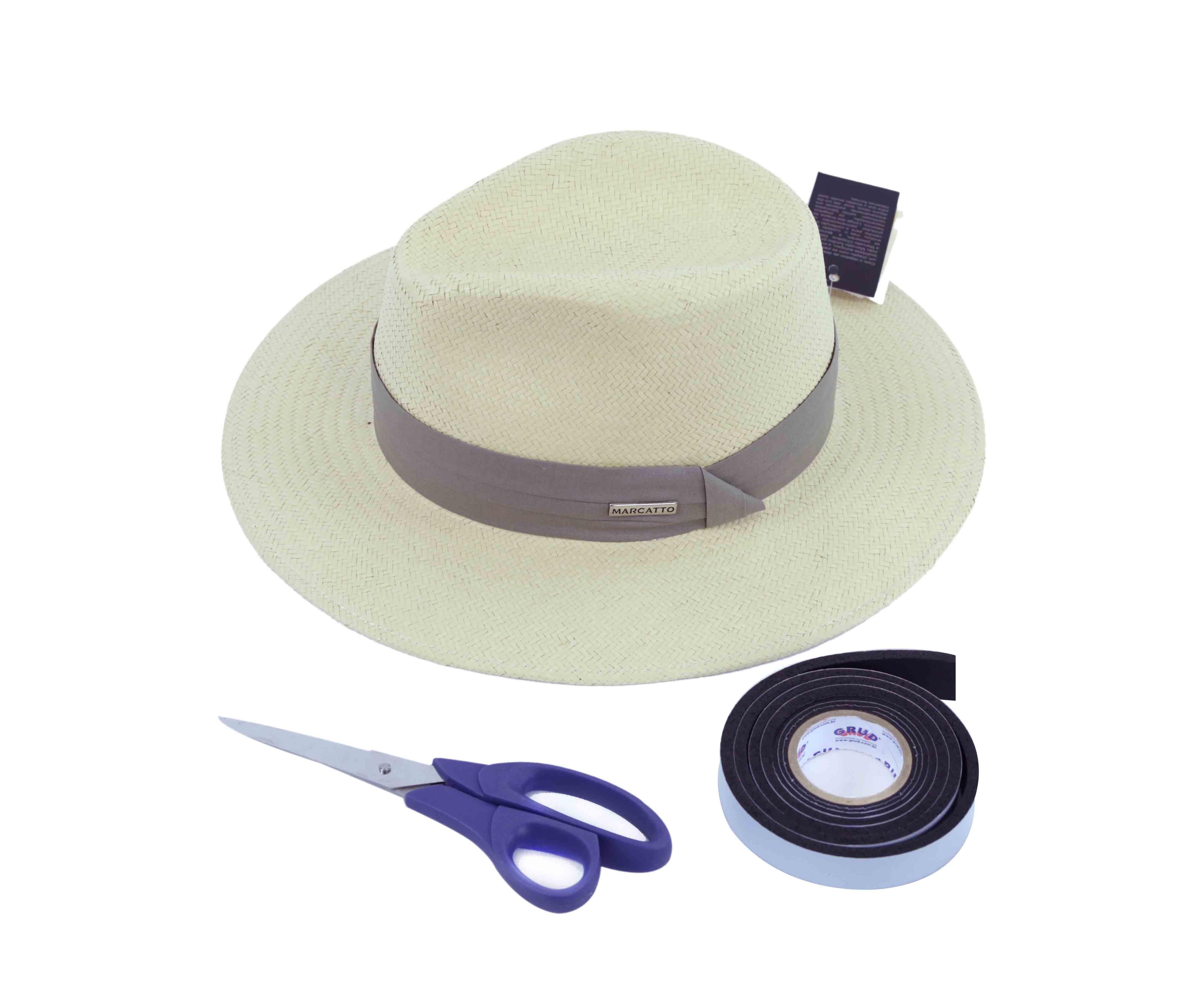 5852d434d Blog da Maria Chapéu - Como diminuir o tamanho do chapéu.